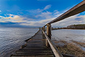 Walkway over the bay at Aberlady, East Lothian, Scotland