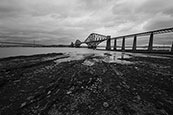 The iconic Railway Bridge over the River Forth at South Queensferry, Lothian, Scotland