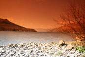 Loch Earn from St. Fillans, Perthshire, Scotland