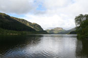 Loch Lubnaig between Callander and Strathyre near to Balquhidder the last resting place of Rob Roy MacGregor, Perthshire, Scotland